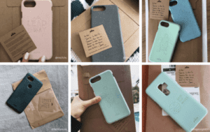 Pela phone cases use sustainable packaging