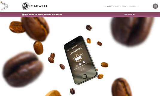 Parallax scrolling website redesign - madwell